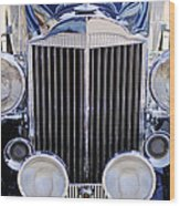1933 Packard 12 Convertible Coupe Grille Wood Print