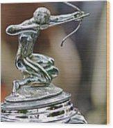 1933 Pierce-arrow 1236 2-door Convertible Coupe Hood Ornament Wood Print by Jill Reger