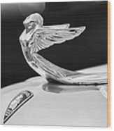1933 Plymouth Hood Ornament -0121bw Wood Print