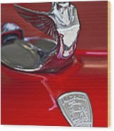 1933 Plymouth Hood Ornament Wood Print by Jill Reger