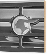 1933 Pontiac Emblem -0467bw Wood Print