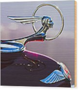 1933 Pontiac Hood Ornament Wood Print by Jill Reger