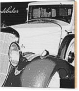 1933 Studebaker Digital Art Wood Print