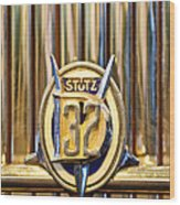 1933 Stutz Dv-32 Five Passenger Sedan Emblem Wood Print