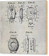 1933 Watch Case Patent Drawing  Wood Print