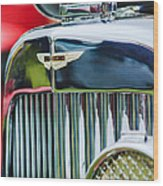 1934 Aston Martin Mark II Short Chassis 2-4 Seater Grille Emblem Wood Print
