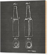 1934 Beer Bottle Patent Artwork - Gray Wood Print