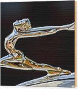 1934 Buick Goddess Hood Ornament Wood Print