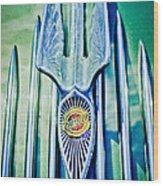 1934 Chrysler Airflow Hood Ornament 2 Wood Print