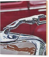 1934 Ford 6 Wheel Equip Hood Ornament Wood Print