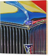 1934 Ford Deluxe Coupe Grille Emblems Wood Print