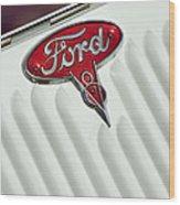 1934 Ford Emblem Wood Print