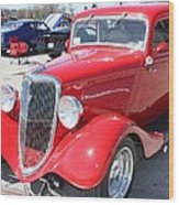 1934 Ford Greyhound Two Door Sedan Wood Print