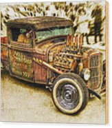 1934 Ford Rusty Rod Wood Print by motography aka Phil Clark