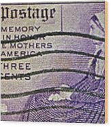 1934 Mothers Of America Three-cent Stamp Wood Print