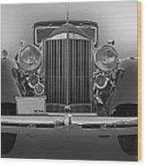 1934 Packard Black And White Wood Print