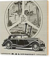 1935 - Panhard Panoramique French Automobile Advertisement Wood Print