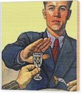 1935 - Soviet Union Anti Alcohol Propaganda Poster - Color Wood Print