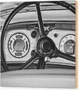 1935 Auburn 851 Supercharged Boattail Speedster Steering Wheel -0862bw Wood Print