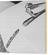 1935 Auburn Boattail Speedster Hood Ornament Wood Print