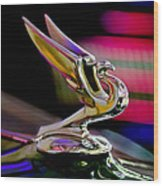 1935 Chevrolet Hood Ornament 2 Wood Print