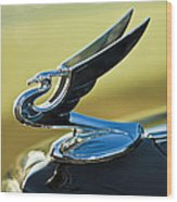 1935 Chevrolet Sedan Hood Ornament 2 Wood Print