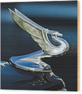 1935 Chevrolet Sedan Hood Ornament Wood Print