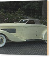 1935 Duesenberg J Roadster  Wood Print