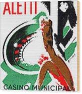 1935 Hotel Aletti Casino Algeria Wood Print