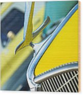 1935 Hudson Hood Ornament Wood Print