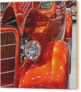 1935 Orange Ford-front View Wood Print