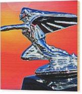 1935 Packard Hood Ornament -0295c Wood Print