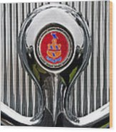 1935 Pierce-arrow 845 Coupe Emblem Wood Print