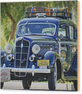 1935 Plymouth Taxi Cab Wood Print