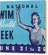 1935 Swim For Health Poster Wood Print