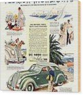 1936 - De Soto Airflow IIi Automobile Advertisement - Color Wood Print