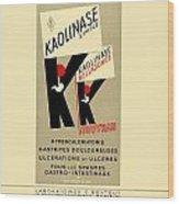 1936 - Kaolinase Drug Advertisement - Color Wood Print