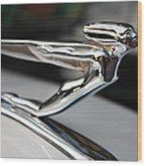 1936 Auburn Super Charger Flying Lady Hood Ornament Wood Print