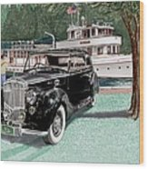 Bentley Waving To Malibu Wood Print