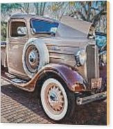 1936 Chevrolet Pick Up Truck Painted    Wood Print