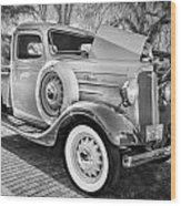 1936 Chevrolet Pick Up Truck Painted Bw   Wood Print