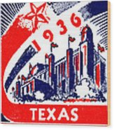 1936 Dallas Texas Centennial Poster Wood Print