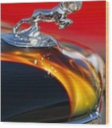 1936 Dodge Ram Hood Ornament 1 Wood Print