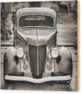 1936 Ford Roadster Classic Car Or Automobile Painting In Sepia  3120.01 Wood Print