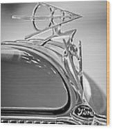 1936 Ford Deluxe Roadster Hood Ornament 2 Wood Print