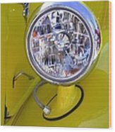 1936 Ford Pickup Headlamp Wood Print