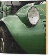 1936 Funeral Truck Headlight Wood Print
