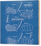 1936 Golf Club Patent Blueprint Wood Print