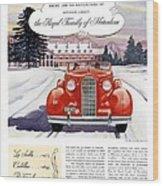 1936 - Lasalle Convertible Automobile Advertisement - Color Wood Print