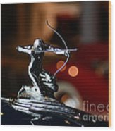 1936 Pierce Arrow Hood Ornament Wood Print